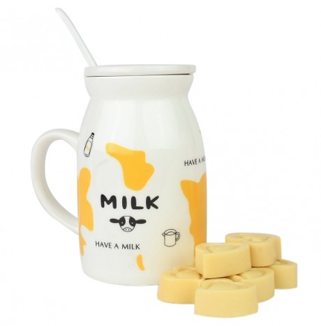 מארז שי - קנקן חלב ולבבות שוקולד