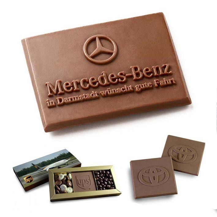 שוקולד בהטבעת לוגו במגוון אריזות